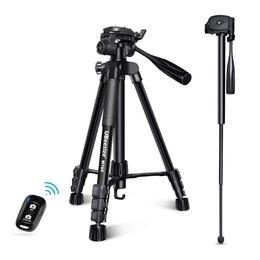 $enCountryForm.capitalKeyWord Australia - UBeesize Tripod MT60, 60 Inches Professional Camera Tripod, Aluminum Monopod Tripod with Carrying Bag, Lightweight Travel Combo for DSLR, SL