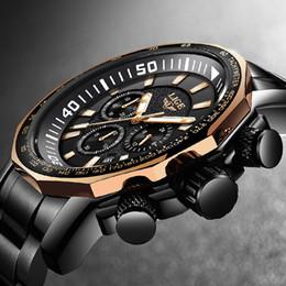 Mens Fashion Luxury Sport Watch Australia - Relogio Masculino 2018 New Lige Fashion Brand Mens Watches Full Steel Business Quartz Clock Military Sport Waterproof Watch Men Y19051703