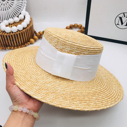Ladies smaLL sun hats online shopping - Spring and summer new straw straw hat with large eaves and sun shading hat simple elegant ladies small top for
