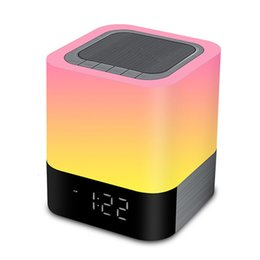 China Bluetooth Speakers All In 1 Touch Sensor Bedside Lamp mp3 Music Player Alarm Clock Led Alarm Clock With Night Light cheap night light mp3 player suppliers