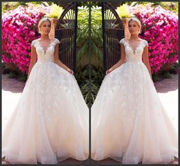 new africa wedding dresses NZ - 2019 New Arrival A Line Organza Beach Country Wedding Dresses Bridal Gowns 2019 abiti da sposa Wedding Gowns South Africa Princess Dresses
