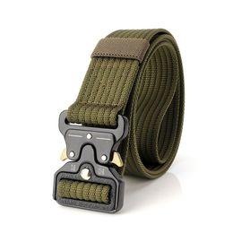China Fashion Men Belt Tactical Belts Nylon Military Waist Belt with Metal Buckle Adjustable Heavy Duty Training Waist Belt Hunting Accessories cheap waist accessories suppliers