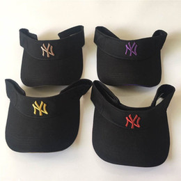 $enCountryForm.capitalKeyWord NZ - Men NY Travel Caps Fashion Visors Embroidered NY Bee Sun Hats Summer Without Top Caps Women Sun Hats Luxury Visor Cap