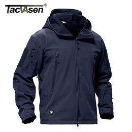 6b65a5f0ffb TACVASEN Army Winter Men Jacket Coat Military Tactical Jacket Waterproof  Soft Shell Jackets Navy Windbreaker Hunt Clothes 4XL