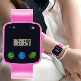 relogio feminino watch 2019 - relogio feminino Silicone Band Children Girls Analog Digital Sport Watches LED Electronic Waterproof Wrist Watch Clock G
