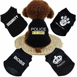 China DHL Free New Summer Dog Clothes Apparel Cat Vest Small Sweater Pet supply Cartoon Clothing t shirt For Puppy Chihuahua Cheap Jumpsuit Outfit cheap cat dog cartoon shirt suppliers