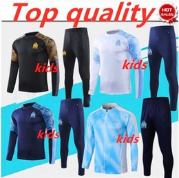 kids dry suits Australia - 2019 2020 kids Olympique de Marseille L.GUSTAVO PAYET soccer jacket training suit 2019 2020 OM Marseille football TRACKSUIT