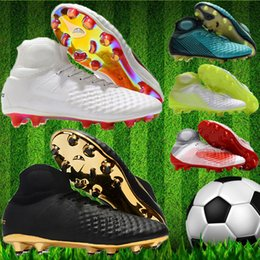 9a01d9373 2019 Original Men High Ankle Soccer Boots Magista Obra II Elite FG Football Shoes  Mens Magista fg 2 Superfly ACC Soccer cleats outdoor