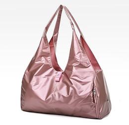 Shoulder Shoes Australia - Glitter Travel Yoga Bags Large Hand Luggage Duffle Bag For Shoes Fitness Top Travelling Handbags Shoulder Bag Women