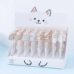 Stationery Australia - 1box Is 24 Pcs 0.5mm Shiba Cute Animals Gel Pen Ink Pen Promotional Gift Stationery School & Office Supply