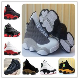 Pvc waterProof boxes online shopping - 13 Atmosphere Grey Basketball Shoes s Cap and Gown HYPER ROYAL Olive Bordeaux Chicago bred s Wheat Sports shoes Men Athletics With box