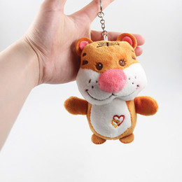 soft toy sheep wholesale Canada - Wholesale 60pcs lot Cute 12cm Tigers Plush Toys Pendant Cartoon Tigers Keychain Soft Stuffed Dolls Kid Girl Toys Birthday Gift