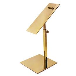 Metal Polished Gold Shoe Display Stand Riser shoe Bracket Metal Shoe Holder rack on Sale