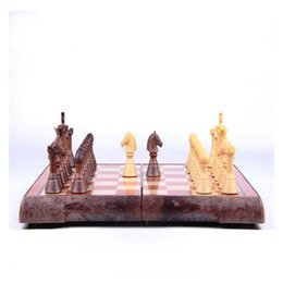 Wholesale Large Size Board Tournament Travel Portable Chess Set Chess Folded Board International Magnetic Chess Set playing