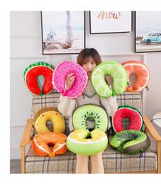 $enCountryForm.capitalKeyWord NZ - Hot Sale 9 styles U-shaped Plush Pillow Car Travel Pillow Cartoon Animal Car Headrest Doll Soft Cushion Home Textile free shipping