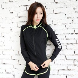 korean sport suits 2019 - Korean-style Autumn And Winter Outdoor Sports Running Quick Drying Clothes Aerobics Yoga Fitness Suit Long Sleeve WOMEN&