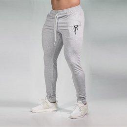 $enCountryForm.capitalKeyWord Australia - Gray Jogging Pants Men Joggers Skinny Leggings Sport Fitness Pencil Pants Cotton Gym Training Long Trousers Running Tights