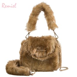 $enCountryForm.capitalKeyWord Canada - Handbag 2019 New Fashion Lady Tote Bag High Quality Soft Plush Women's Designer Handbag Chain Shoulder Messenger Bags