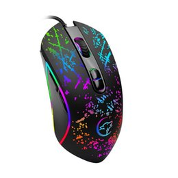 Windows Usb Mouse Australia - USB Wired Optical Mechanical Gaming Mouse Adjustable 3200DPI PC Laptop Computer Mice for Windows 2000 XP Win7 Win8 4 Light Mode