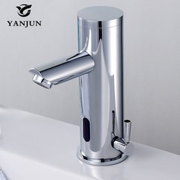Automatic Kitchen Faucets Australia - Yanjun Touch-Free Infrared Sensor Faucet Automatic Shut Off Faucet Hot And Cold Basin Mixer Lavatory Bathroom Kitchen YJ-6625