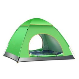 Pop Up Tents Person UK - Wholesale - Free shiping Camping Pop up Tent,190T ployester PU coating waterproof ,Beach Tent, Fishing Tent For 3-4 Person CTS002