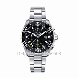 CeramiC Chronograph men watCh online shopping - Luxury Gift Swiss Watch Men Tag montres High Quality Stainless Steel Ceramic Bezel Chronograph Quartz Watch Sports orologio da polso