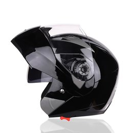 jiekai lens 2019 - Jiekai Motorcycle Helmet Open Face Helmet Double Lens Electric Car Men'S Electric Car Anti-Fog Four Seasons Hard Ha