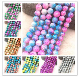 $enCountryForm.capitalKeyWord Australia - 2019 Wholesale 4mm Glass Beads Round Loose Spacer Beads Pattern For Jewelry Making DIY Bracelet Necklace