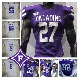 $enCountryForm.capitalKeyWord Australia - Custom Furman Paladins Stitched Any Number Name purple white 4 Darren Grainger 9 Hamp Sisson 22 Devin Wynn College Football Jerseys S-4XL