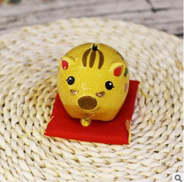$enCountryForm.capitalKeyWord Australia - China original single ceramic pig lucky pig crafts ornaments gifts to send children piggy bank pigs