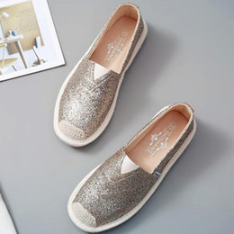 $enCountryForm.capitalKeyWord Australia - Women Loafers Paillette Spring Flat Shoes Ladies Sequin Fisherman Casual Shoes Lightweight Breathable Golden Loafers Lazy Flats Y190704