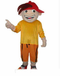 Chinese  2019 High quality Boy in red hat cool adult size mascot costume free shipping manufacturers