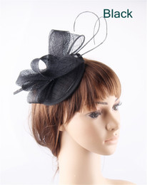$enCountryForm.capitalKeyWord Australia - Elegant millinery fascinator hair accessories base with loops and ostrich quill wedding headwear cocktail hats 17 colors