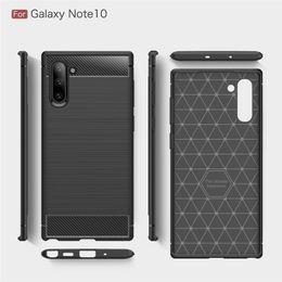 $enCountryForm.capitalKeyWord NZ - Carbon Fiber Design TPU Cell Phone Cases For Huawei P20 Lite 2019 Zenfone 6 Samsung Galaxy Note 10 S10 Plus A10 A70 Case