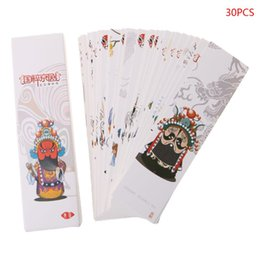 Chinese Painting Paper Australia - 30pcs Creative Chinese Style Paper Bookmarks Painting Cards Retro Beautiful Boxed Bookmark Commemorative Gifts