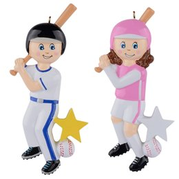 $enCountryForm.capitalKeyWord Canada - Maxora Wholesale Resin Glossy Children Baseball Boy Baseball Girl Christmas Ornaments Personalized Gifts Used For Holiday and Home Decor