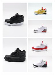 $enCountryForm.capitalKeyWord Australia - Free Shipping Retro Kids Shoes 3 White Cement Katrina Cyber Monday Basketball Shoes Youth Boys Girls 3s III White Cement Sneaker Size 11C-3Y