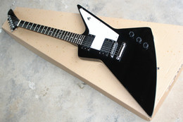 Custom eleCtriC guitar shapes online shopping - Factory Custom Special Shape body Black Electric Guitar with Fixed Bridge HH Pickups Chrome hardware can be customized