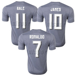 09aada33a 2015 16 Real Madrid Away Soccer Jerseys Ronaldo Isco Modric Futbol Camisa  Football Camiseta Shirt Kit Maillot