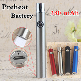micro oil UK - 510 eCig Thread Vaporizer Battery eGo Micro USB Pass Through Adjustable Variable Voltage 380mAh Preheating Bottom Charge Hash Oil Vape Pen