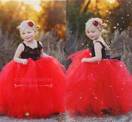 Communion flower online shopping - Cute Lace Tulle Ball Gown Flower Girl Dress Cheap Long Full Length Layers Tutu Girl Formal Pageant Dresses Custom Little Girl Gown BC2199