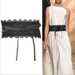 Band Belts Australia - 2019 New Black White Wide 175cm Corset Lace Patchwork Belt Female Self Tie Waistband Belts for Women Wedding Dress Waist Band