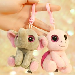 cat doll big eye Australia - 2020 Creative Big Eyes Plush Toy Pendat Soft Animal Frog Elephant Panda Pig Unicorn Keychain Doll for Kids Gift Christmas Gifts