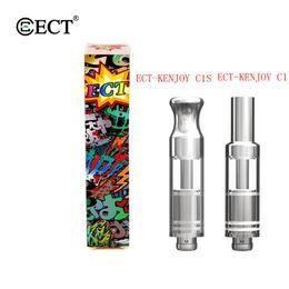 ect atomizer 2019 - Original ECT-KENJOY C1 C1S Dab Pen Glass Thick Oil Vape Pen Cartridges 510 Thread Battery Ceramic Coil Pyrex Glass Tank