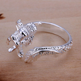 $enCountryForm.capitalKeyWord NZ - Chinese Dragon Ring Silver Plated Jewelry Opened and Resizable Finger Ring Women Unisex Fashion Jewelry Lovely Gift K3528