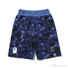 1e29a78a56 Venta al por mayor de los hombres de verano de camuflaje azul correas pantalones  cortos casuales hombres camuflaje casual pantalones cortos de skate ...