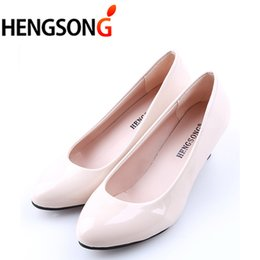 6f3209815 Designer Dress Shoes HENGSONG Fashion Nude hallSow Mouth Sexy Fashion Women  Office High Heels Casual for Elegant Ladies Female 913388