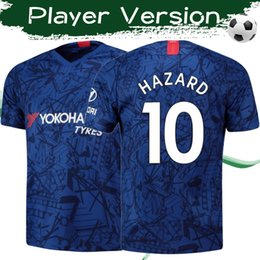 Quality player online shopping - Player Version KANTE HAZARD Home soccer jerseys Top quality HIGUAIN soccer shirts Customized Adult football Uniforms