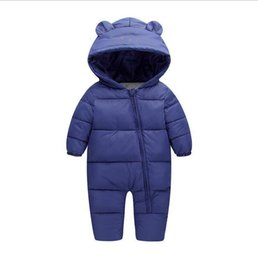 5df8b4b4e5a68 baby girl clothes Boy Newborn Clothes Costume Thick Warm Infant Baby  Rompers Kids Winter clothes Jumpsuit Hooded baby clothing