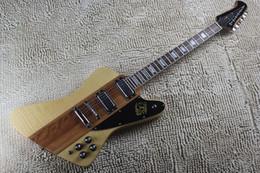 O envio gratuito de Alta Qualidade de uma peça set pescoço Thunderbird IV burlywood guitarra elétrica explorer guitarra personalizada venda por atacado